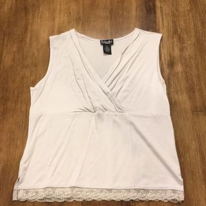 Dressy V Neck Sleeveless Top